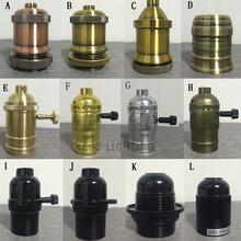 5pcs/lot Vintage Light Bulb Lamp Holder Pendant Light Copper Bakelized Brass-toned Line E27 Lamp Base/Plastic lamp holder(China (Mainland))