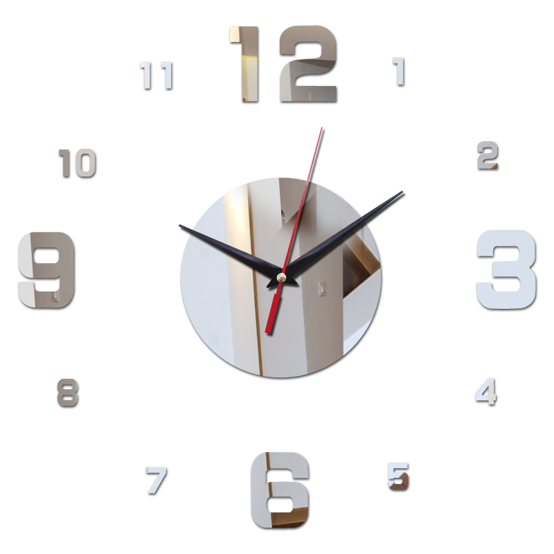 hot 2016 new limited 3d acrylic mirror wall clocks living europe needle home decoration modern watch selling free shipping(China (Mainland))