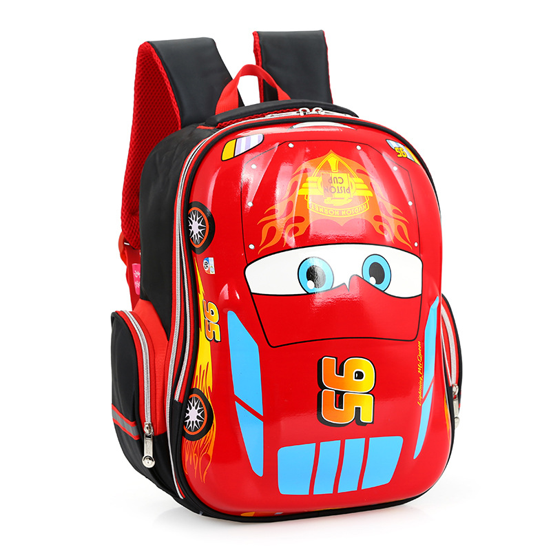 3D Cartoon Big Capacity Russia Style Orthopedic School bags For Boys Car Ultralight Waterproof Backpack Child Kids School bag