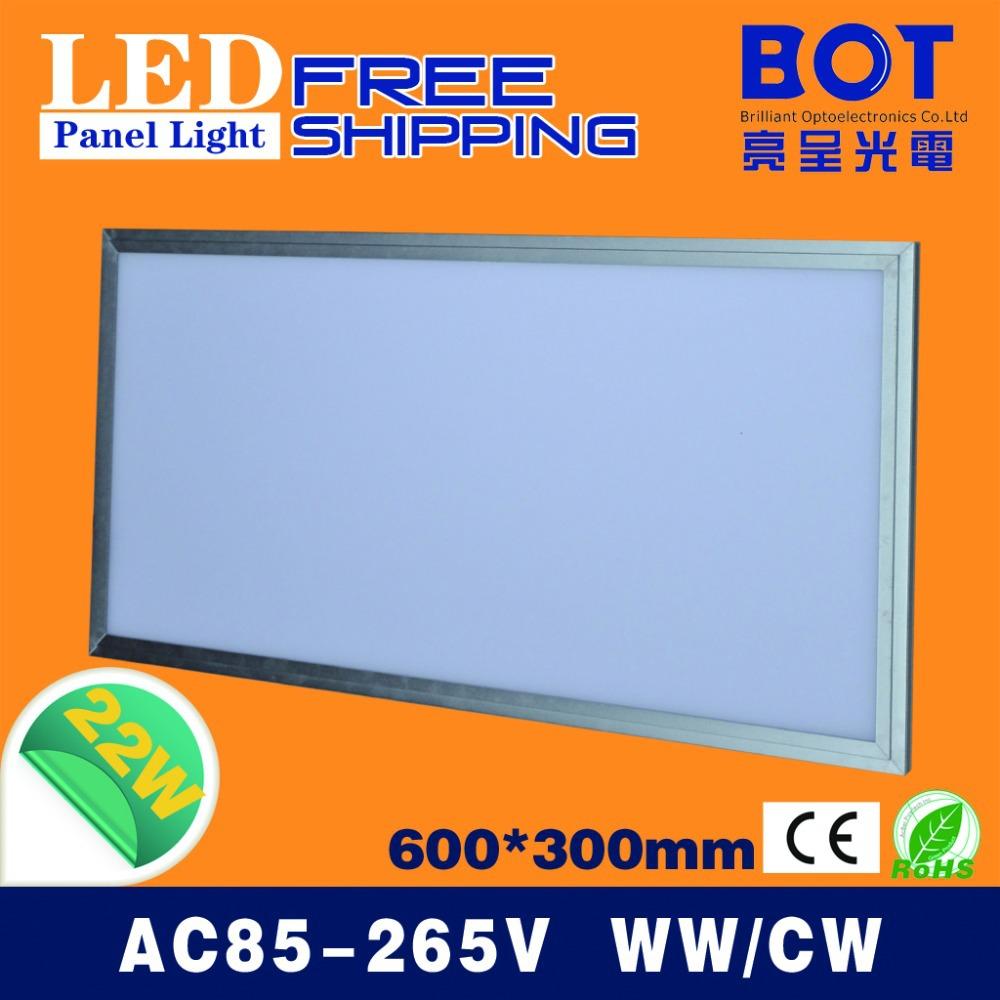Led panel light integrated ceiling light led panel light led lighting 22w 300x600MM square lamp warm&cool color(China (Mainland))