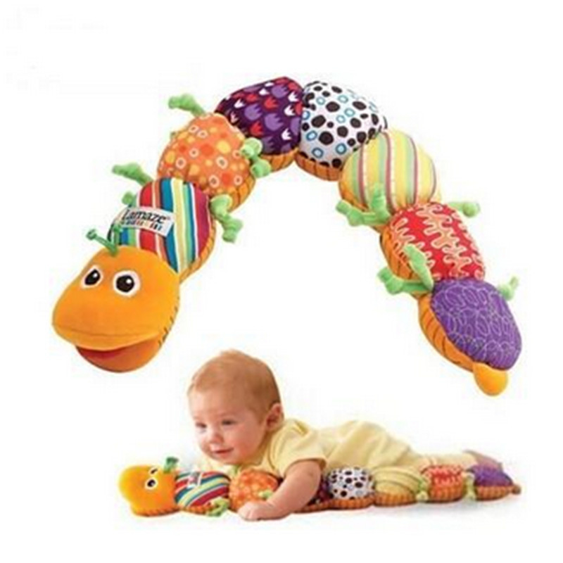 Multicolor Unisex Soft Musical Stuffed Plush Baby Toys, Music Educational Multifunction for Caterpillars Bb(China (Mainland))