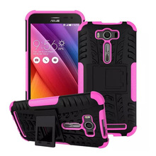 Armor Case For Asus Zenfone 2 Laser ZE500KL Case Silicone Stand Back Cover TPU & Plastic 5 inch Phone Case(China (Mainland))