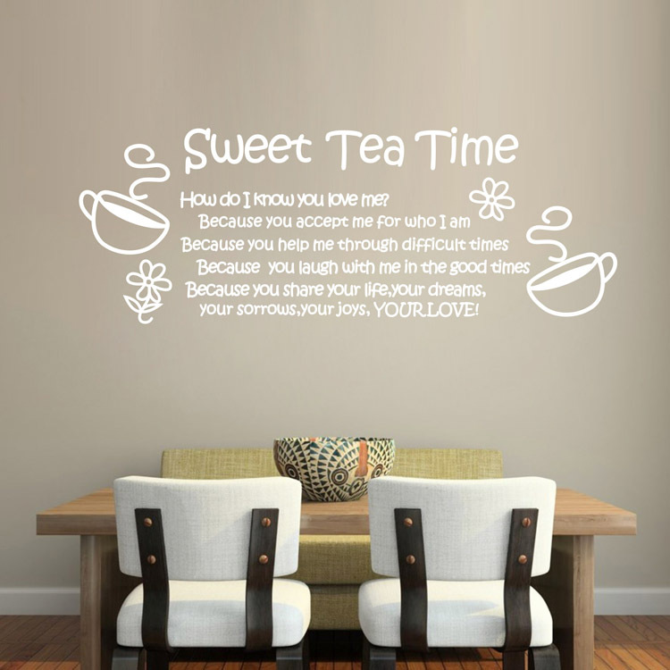 Ebay amazon hot love thanksgiving quote sweet tea time for Home decorations amazon