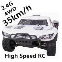 High speed 40km/hour 4wd 2.4GHZ rc car remote control car short course racing truck, Off Road Truck VS little traxxas slash(China (Mainland))