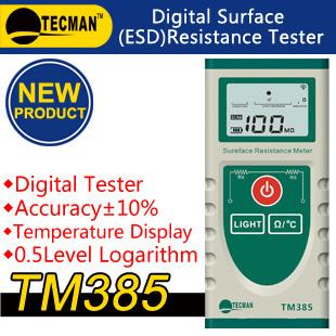 TM385   Digital Surface resistance tester anti-static tester electrostatic measurement   temperature FREE SHIPPING meter<br><br>Aliexpress