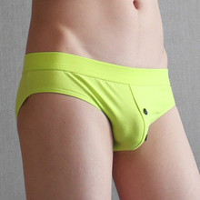 high quality brand cotton men briefs sexy men's underwear male panties low waist brief button men man gay shorts calzoncillos