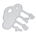 3pcs Small Irregular Round Metal Cutting Dies Stencils for DIY Scrapbooking Album Decor Cut Dies Photo Frame Decorating Cutter