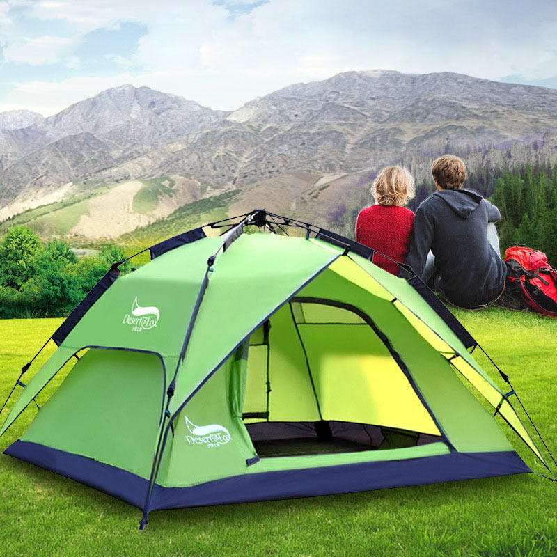 3-4 person Outdoor hiking camping tents windproof waterproof 3000mm double layer beach tent automatic opening travel tents<br><br>Aliexpress