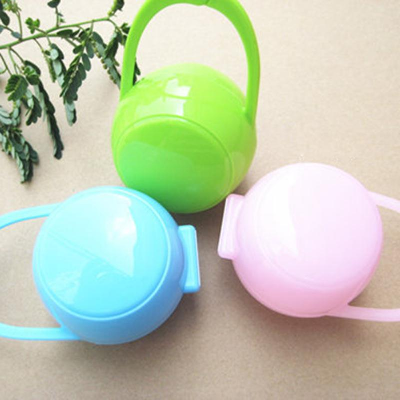 Portable Baby Infant Food Nipple Feeder Pacifier Dummy Storage Box Case Feeding Supplies Soother Nipples Soft Feeding Tools