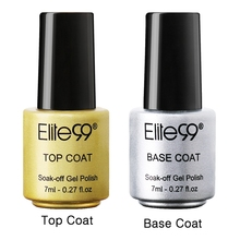 Elite99 Gel Nail Primer 7ml Top Coat Top it off + Base Coat Foundation for UV Gel Polish Best on Ali New Style Nail Lacquer(China (Mainland))