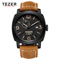 Luxury Brand TEZER 2016 Fashion Watches Men Wristwatches Automatic Mechanical Watches Genuine Leather Strap Male Clock