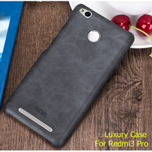 Buy Free tempered glass! New back cover case xiaomi redmi 3s leather cases covers redmi3 pro Luxury brand original for $6.99 in AliExpress store