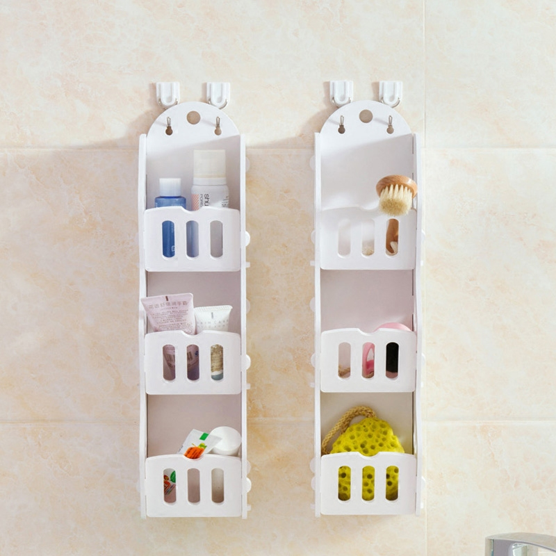 NEW White Wall Hanging Shelf Goods Convenient Rack Storage Holder Home Bedroom Decoration Ledge Home Decor Organizer Holder Rack(China (Mainland))