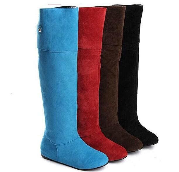 new arrival knee high boots fall flat