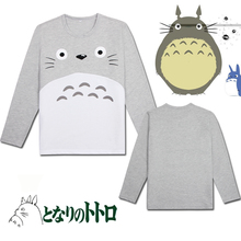 Buy Neighbor Totoro long sleeve t shirt cotton tshirt O neck casual t-shirt boys clothes anime summer tops tees mens shirts for $11.53 in AliExpress store