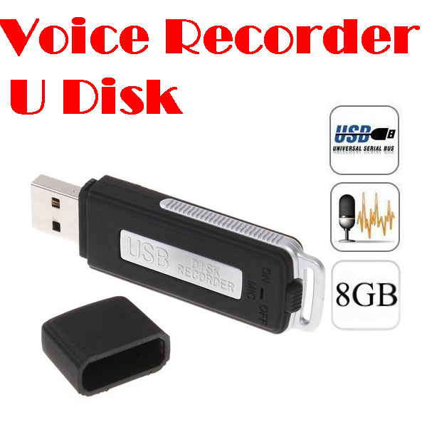 by dhl or ems 200 pieces Mini 8GB USB Digital Audio Voice Recorder Dictaphone Flash Drive Disk WAV Format Black Color(China (Mainland))