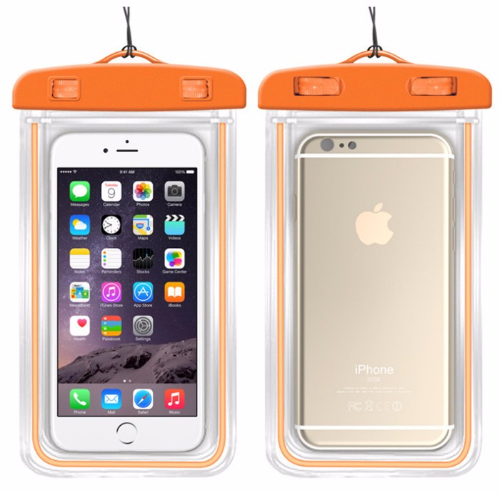 100% Sealed Waterproof Bag Case Pouch Luminous Phone cases for iPhone 6s Plus/5S 5C 5 4S Samsung Galaxy S6/S5/S4 Samsung Note 5