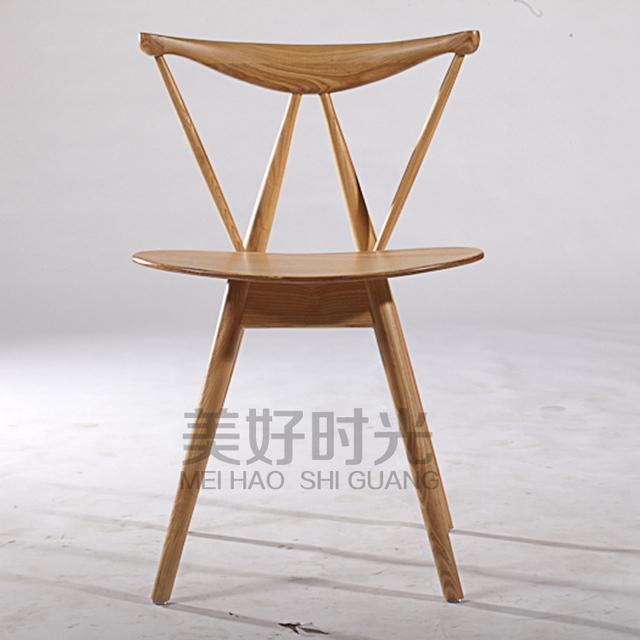 hout eetkamerstoelen Japanse mode ontwerper klassieke massief houten ...