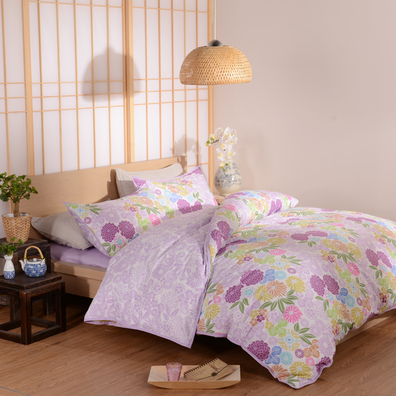 Unique floral bed set, Twill flower active print bedding ...