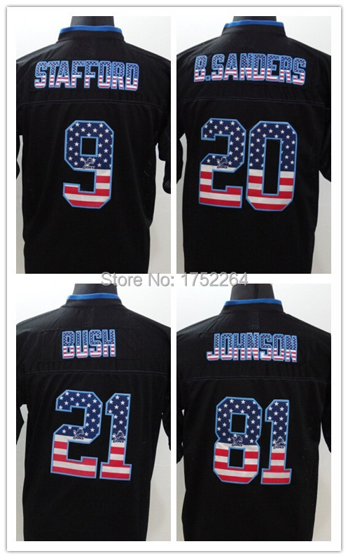 Men S Usa Flag Fashion Elite American Football Jersey Rugby  Matthew