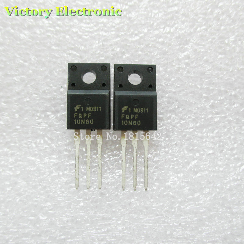 Гаджет  Brand New FQPF10N60C 10N60 10N60C TO-220 10PCS/Lot Field Effect Tube N-Channel MOSFET Wholesale Electronic None Электронные компоненты и материалы