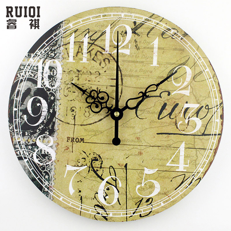 Popular large decorative wall clocks buy cheap large for Plaque decorative murale