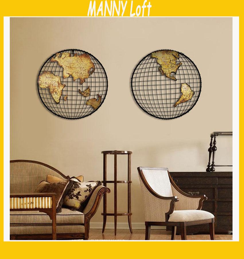 Supports muraux d coratifs achetez des lots petit prix for Decoration murale carte du monde