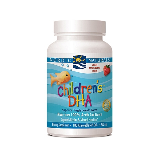U.S.A imported original Nordic Naturals Children's DHA - Strawberry 180 Chewable Soft Gels(China (Mainland))