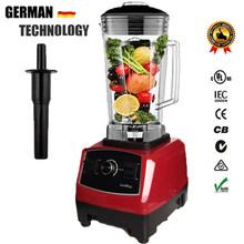 UE/EUA Plug 6300 BPA Livre 3HP 2200W Comercial Misturador Liquidificador Processador de Alimentos Espremedor de Energia Smoothie de Frutas Bar liquidificador elétrico(China)