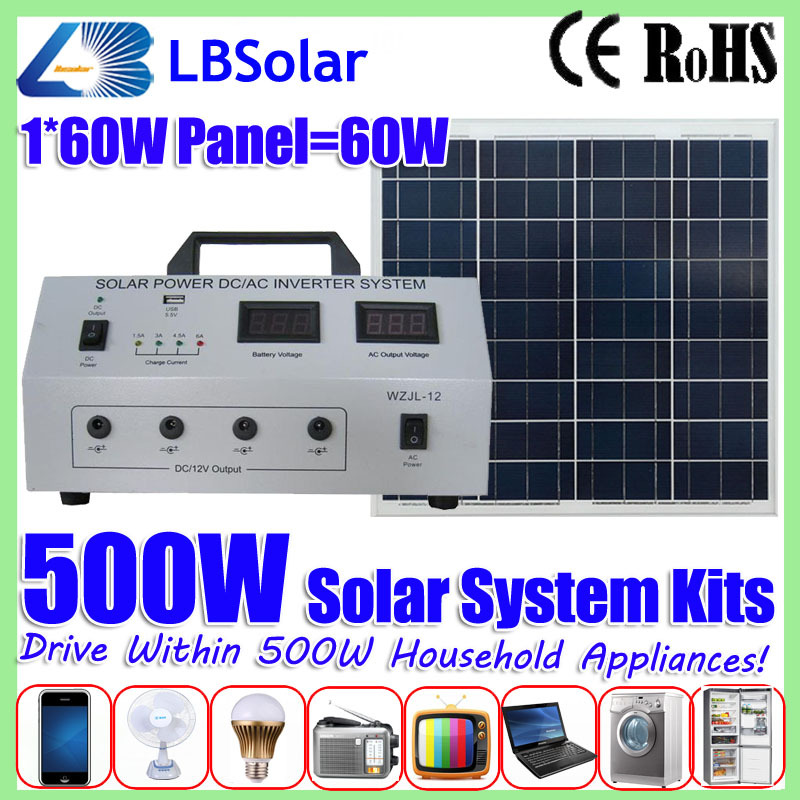 500W Portable Solar Energy Power Generation System 220V Free Energy ...
