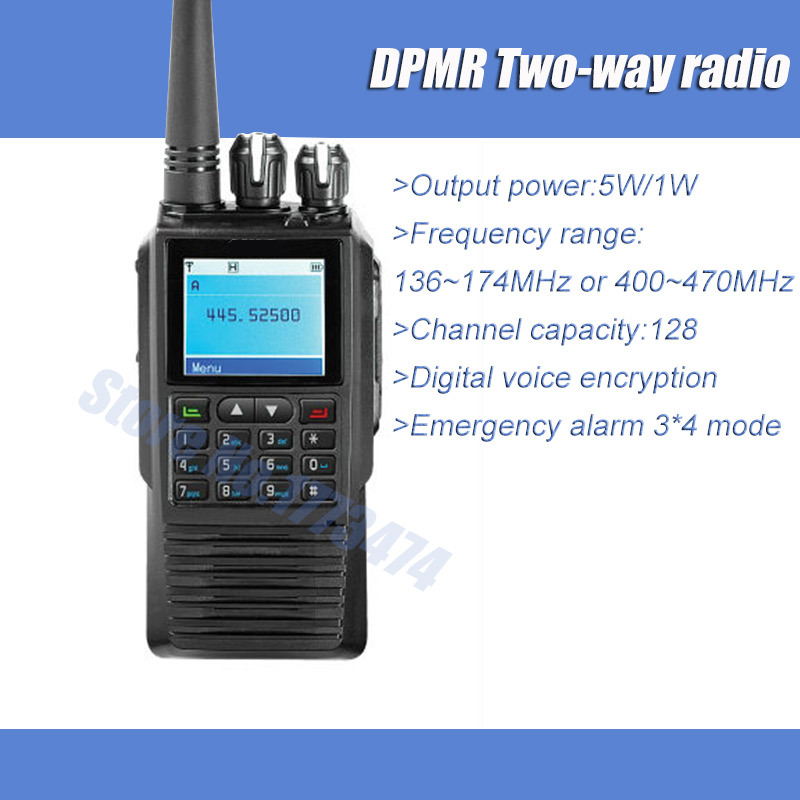 Professional Digital Two way Radio UHF 256 Channel DPMR IP54 Digital encryption function Monitor VOX Walkie Talkie(China (Mainland))