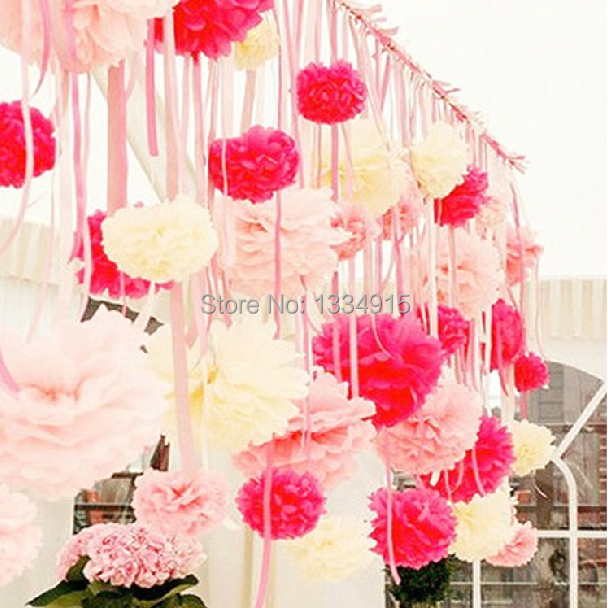 free shipping Peony paper flowers ball party creative supplies decoration red paper lanterns red flowers red wedding decor(China (Mainland))
