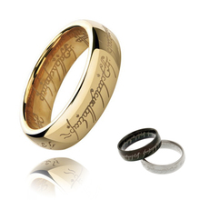 Hot-selling H Letters One Ring To Rule Them All Male Titanium Stainless Steel Men Rings For Women Black Silver Gold Size 7-15(China (Mainland))