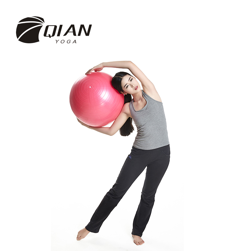 QIAN YOGA Professional 55CM Fitness Exercise Swiss Gym Fit Yoga Core Ball Abdominal Back Leg Workout High Quality(China (Mainland))