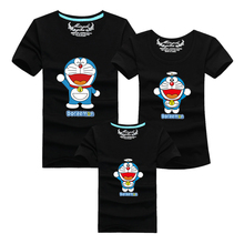 Ming Di Family Matching Outfits T-shirt Mother & Kids Clothes For Dad Mon Daughter and Son Cartoon Summer Top Short Clothing(China (Mainland))