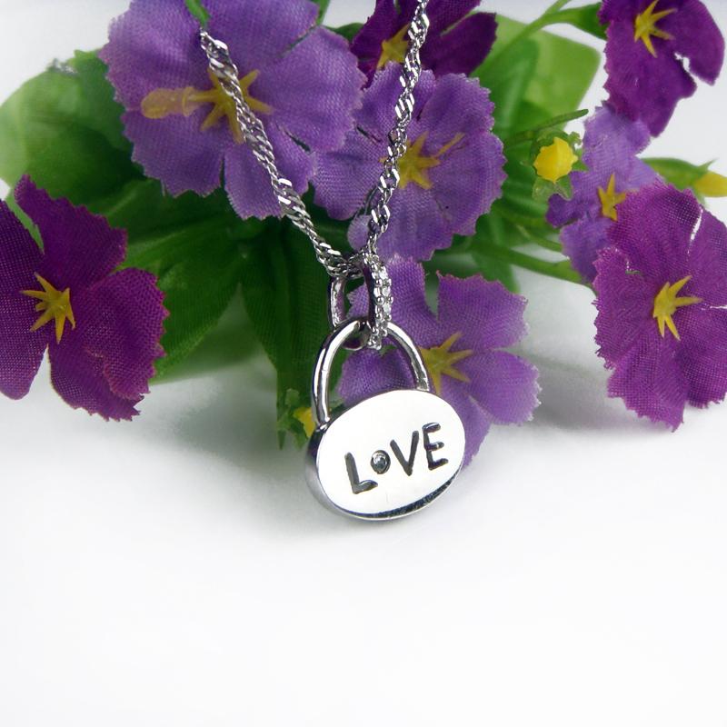 Lock pendant s925 pure silver jewelry necklace short design birthday gift - Soldi Fashion Jewelry store