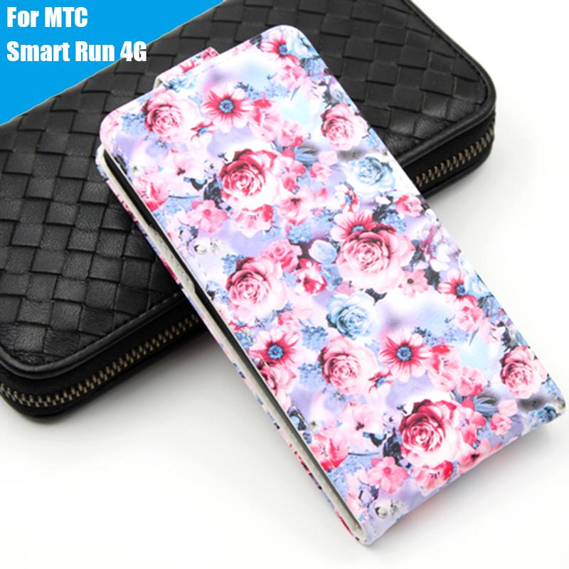 Leather case Wallet style cover Flip Telephone Holder and Cell phone shell For MTC Smart Run 4G Mobile phone bag 8 Colors(China (Mainland))