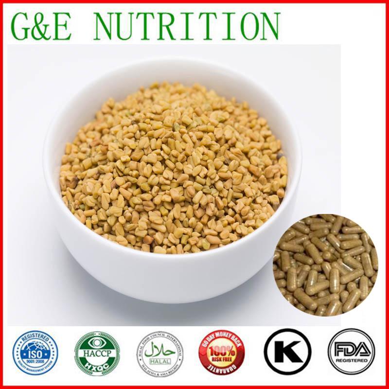 GMP Standard Common Fenugreek Seed / Trigonella foenum-graecum/ Capsule with free shipping, 500mg x300pcs(China (Mainland))