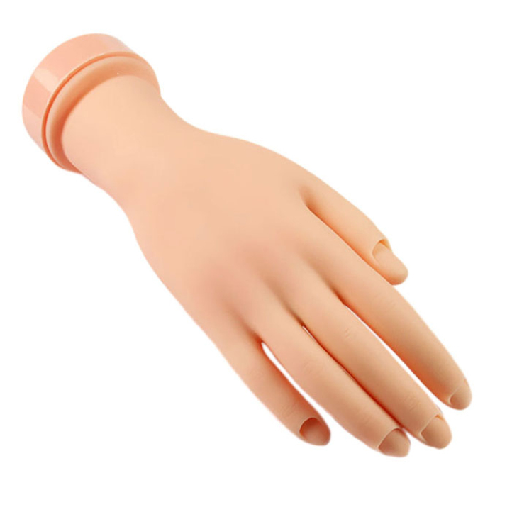 Newly Design Nail Practice Tool Flexible Soft Plastic Flectional Mannequin Model Hand(China (Mainland))