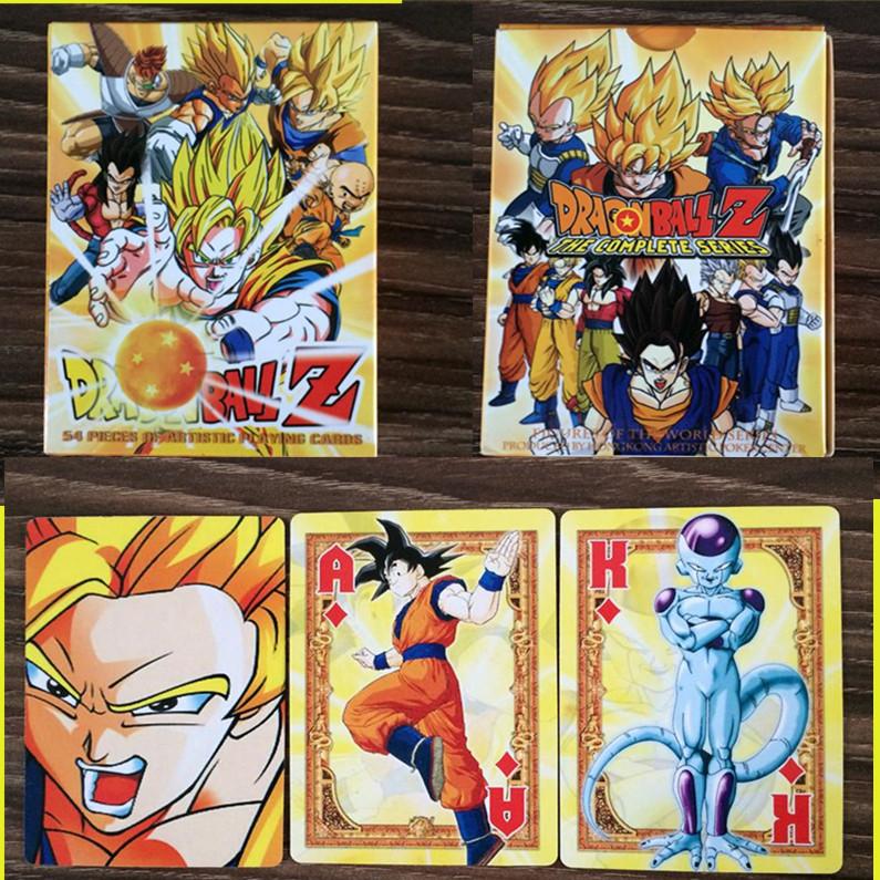 54 pcs/pack Dragon Ball Z Super Saiyan Goku Poker Playing Cards 3d Dragon Ball Action Figures Collection Poker Kid Gift Toy(China (Mainland))