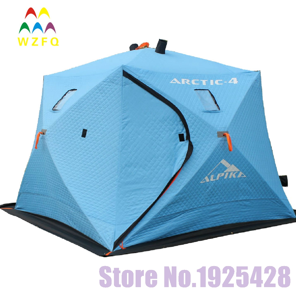 5-6 persons automatic pop up winter Ice fishing tent heat preservation 600 D oxford thicken cotton beach outdoor camping tent(China (Mainland))