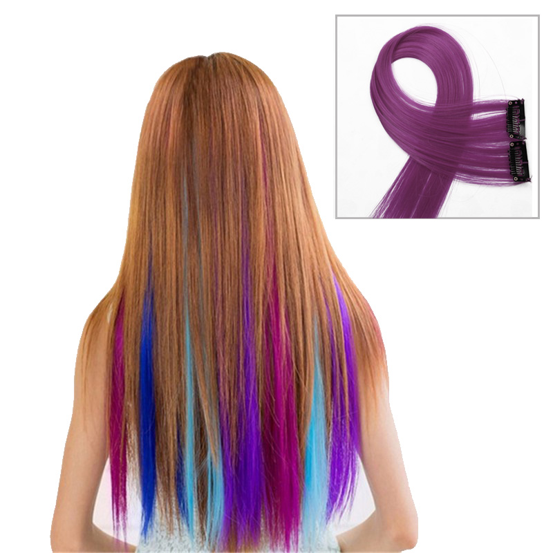 Fashion Hair Extension For Women Long Synthetic Hair Clip In Extensions Straight Hair Hairpiece