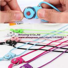 2 in 1 Functional Braided Lanyard Sling Finger Ring Detachable Hanging Rope for Iphone 6s Phone Case Neck Strap Card Universal(China (Mainland))