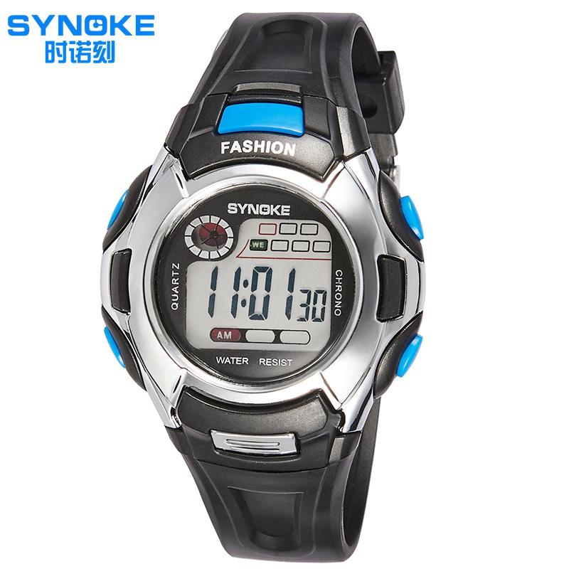 Fashion Casual Brand Children Watch SYNOKE Luminous Multifunctional LED Digital-watch Sports Kids Watches Boys Girls Clock