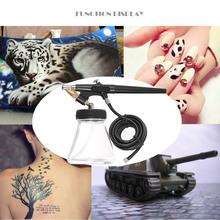 0.8mm Spray Paint Airbrush Mini Single Action Air Brush Kit Hose Bottle Spray Tool for Body Painting Makeup Art Model Tattoo(China (Mainland))