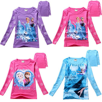 Children Tops Tees  Autumn Wear Long Sleeve children clothes letter t shirts girl casual Baby girl t shirt kids