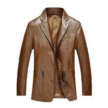 Men's New Suit Sheep Leather Jacket Men Leather New Fashion Men Slim Suit leather clothing genuine leather Handsome coat 210(China (Mainland))
