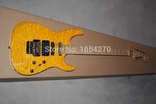 new SL2H USA Soloist Maple neck orange colour finish inlays signature Custom Body 6 strings Jackson electric guitar 15.(China (Mainland))