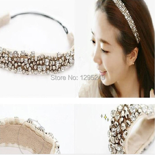 1pc New High Quality Attractive Women Shinning Rhinestone Headband Fashion Hair Accesorries Free Shipping djg1(China (Mainland))