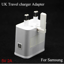 Genuine 2A UK USB wall travel adapter 3 Pin Power Plug Charger Adapter For samsung Galaxy note 3 S5 mobile Smart phone(China (Mainland))